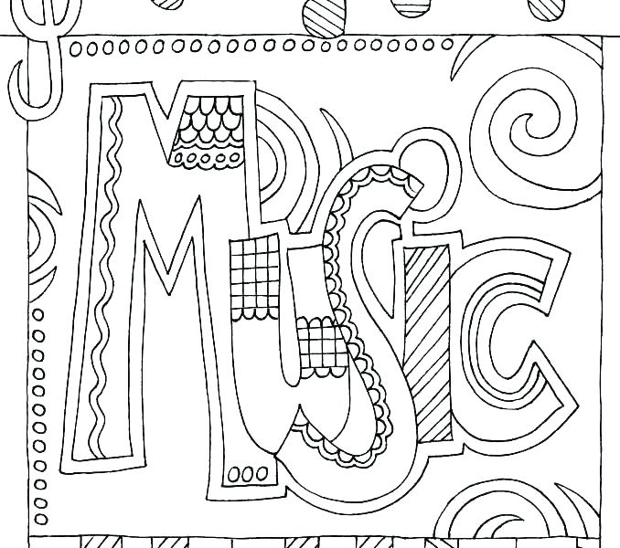 678x600 Music Note Coloring Page