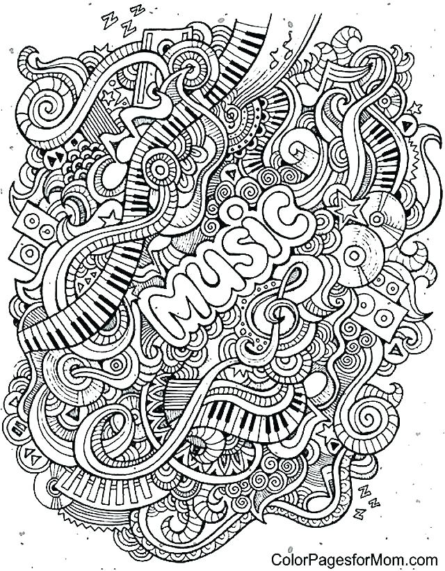 640x820 Coloring Pages Music Coloring Pages Of Music Notes Music Coloring