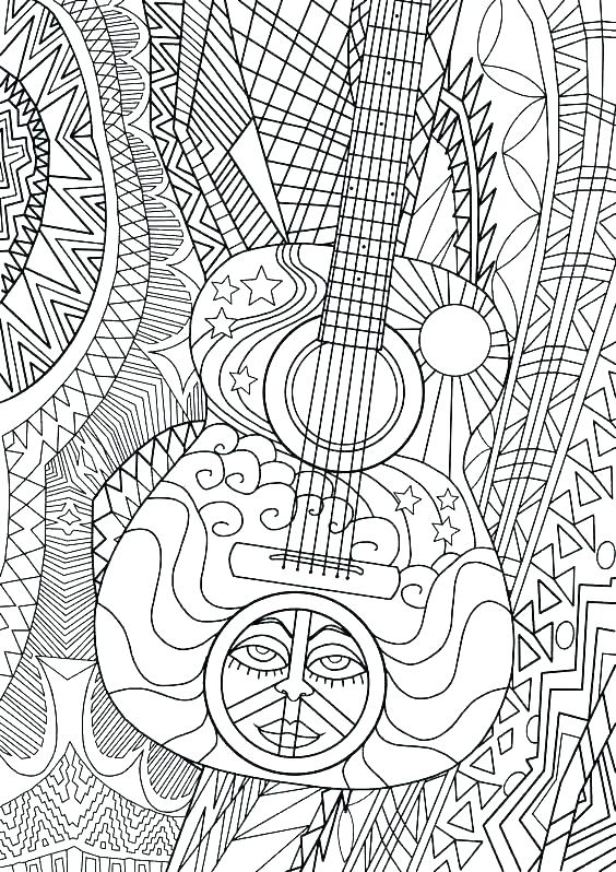 564x798 Fun Coloring Sheets Music Coloring Pages For Kids Printable