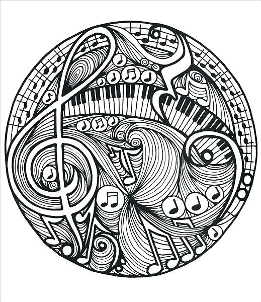 519x600 Music Coloring Book Music Themed Coloring Pages Doodles Coloring