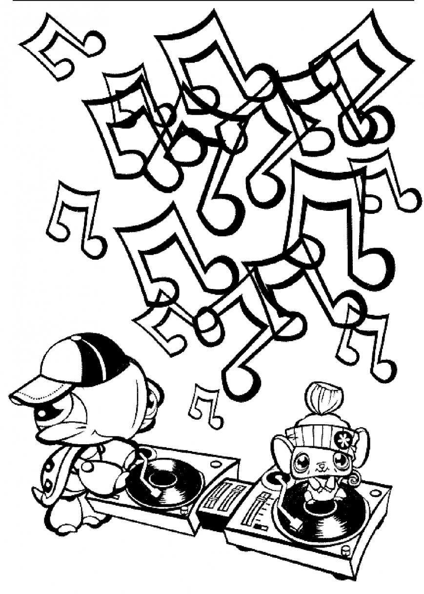 869x1217 Music Coloring Pages For Preschoolers Adults Pdf Colouring