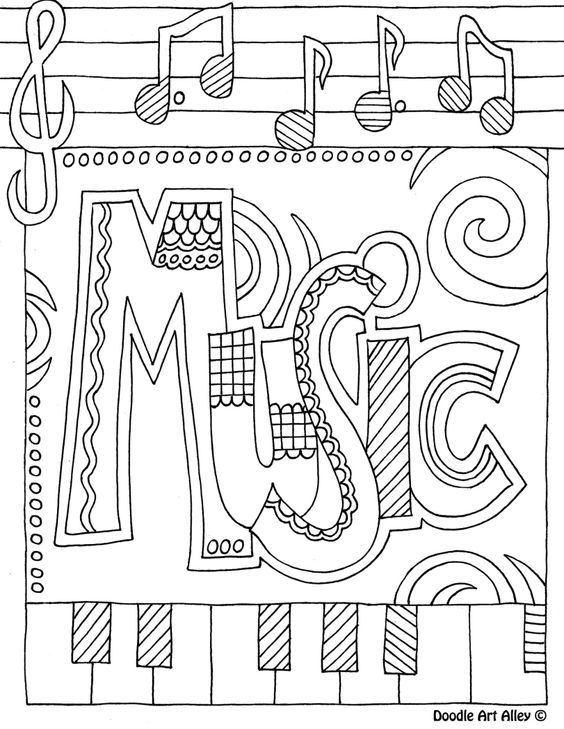 564x729 Music Coloring Pages Pdf