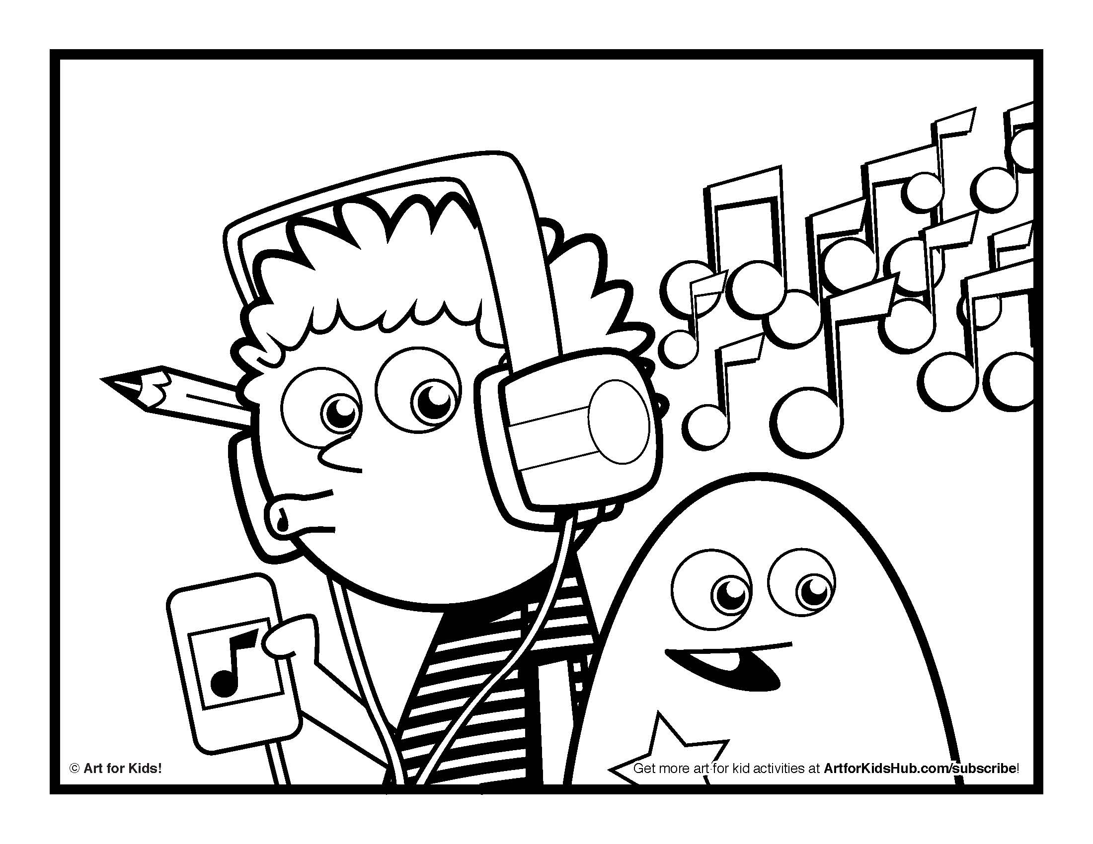 2200x1700 Music Coloring Sheets With Pages For Kids Printable