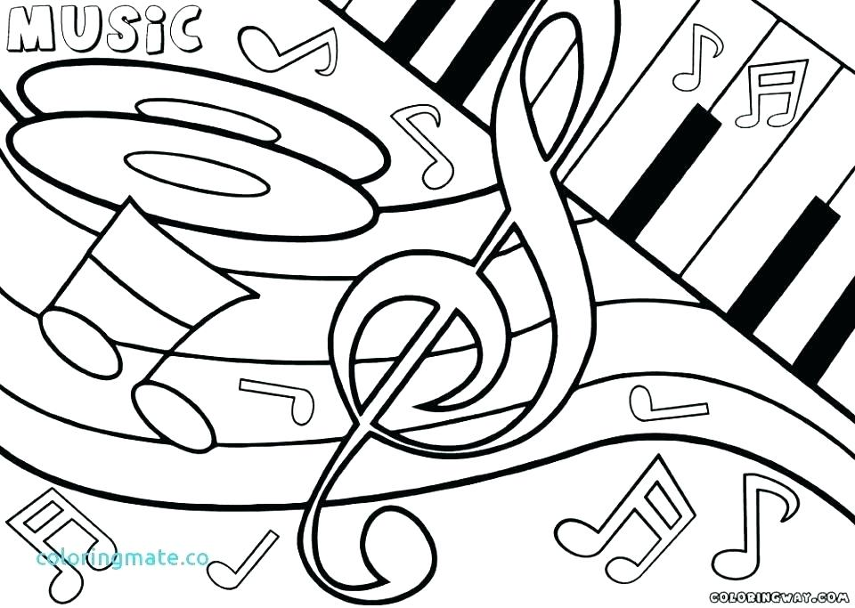 960x683 Music Coloring Pages Pdf