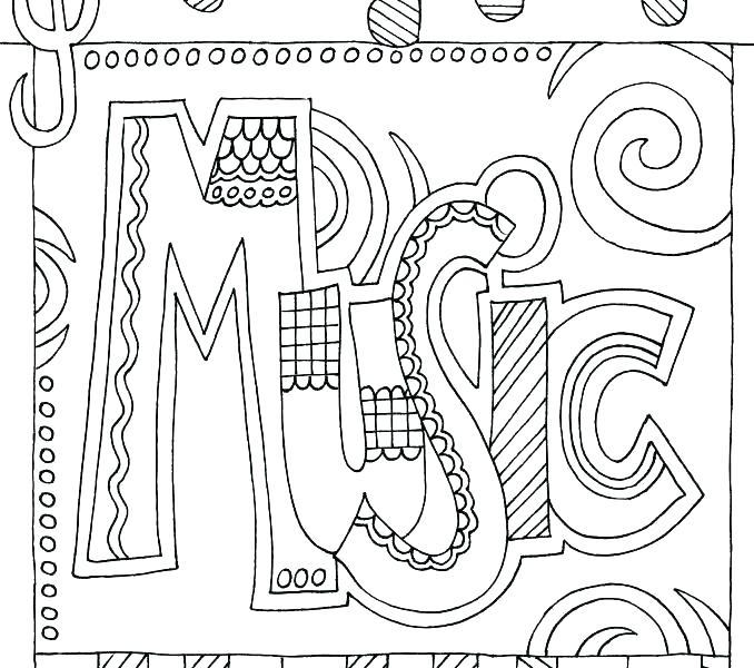 678x600 Music Coloring Sheet