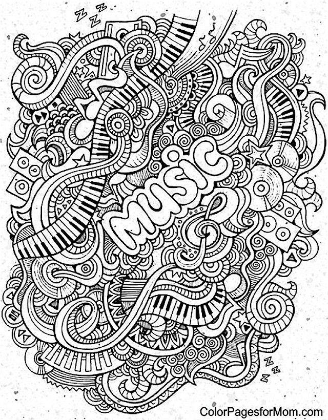 640x820 Doodles Coloring Page Art Doodles, Adult