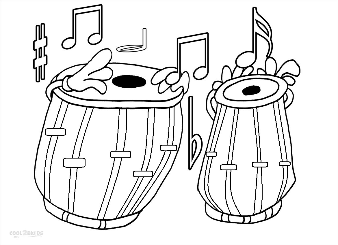 1170x850 Music Coloring Pages For Kids Printable