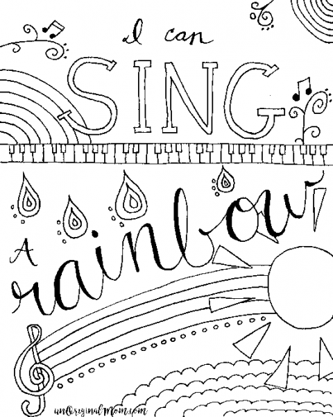 480x600 Printable Music Coloring Pages