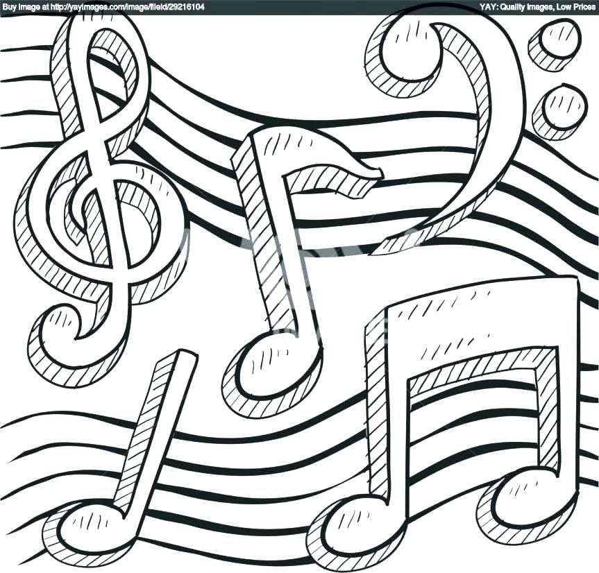 Music Coloring Pages Printable At Getdrawingscom Free For