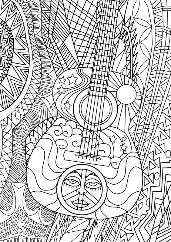 Music Mandala Coloring Pages