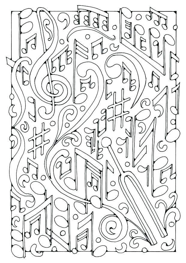 620x875 Music Coloring Sheets Coloring Pages Of Music Notes Music Notes