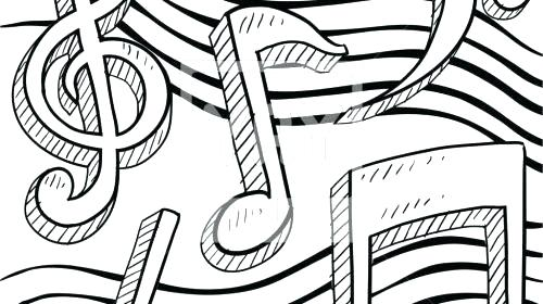 Music Notes Coloring Pages At Getdrawings Free Download