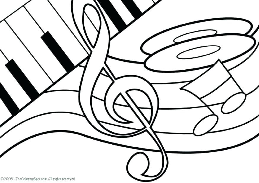 875x620 Music Notes Coloring Page Coloring Pages Music Music Notes