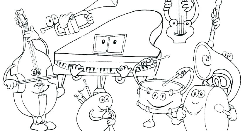 860x450 Music Notes Coloring Page Music Note Coloring Page Music Notes