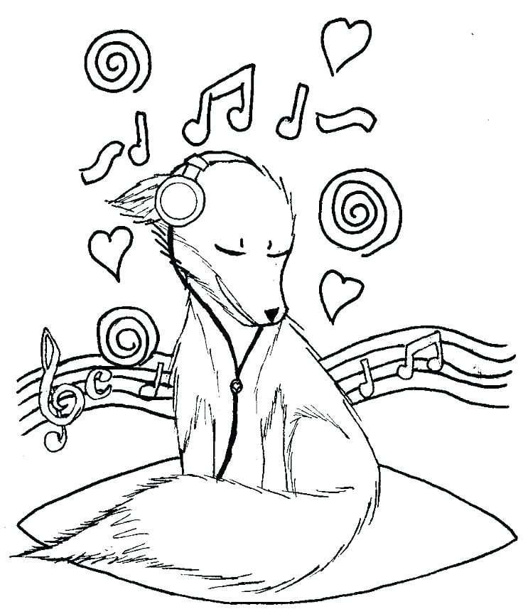 736x864 Musical Coloring Pages Musical Notes Coloring Pages Music Notes