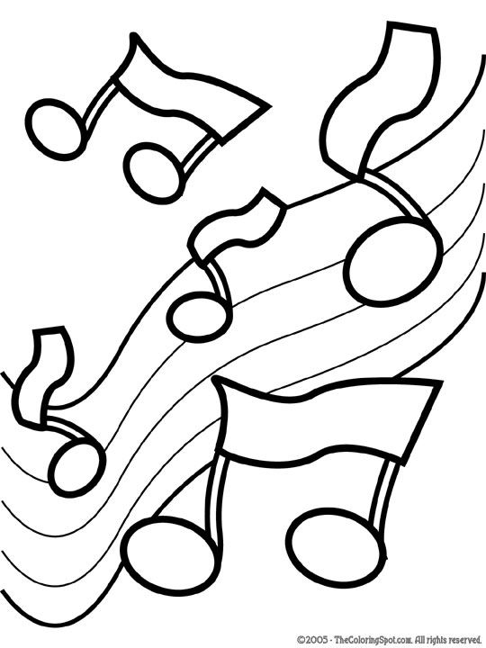 Music Notes Coloring Pages Preschoolers