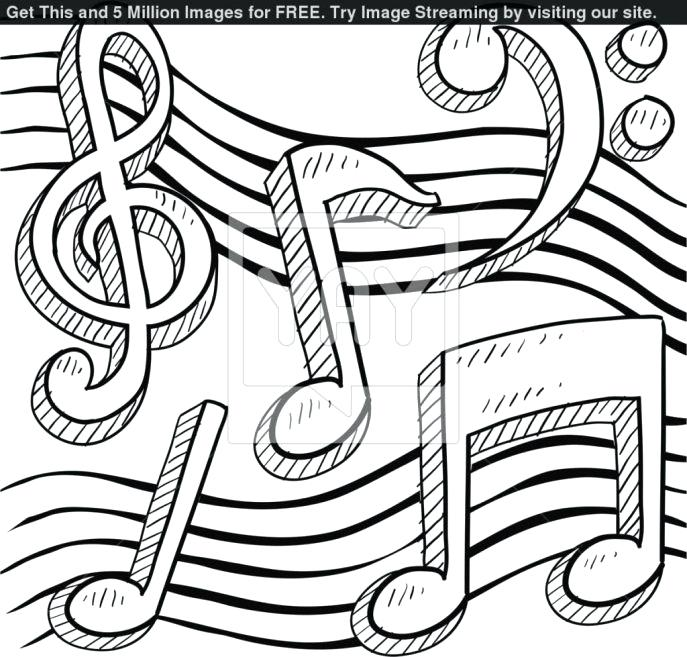 687x657 Medium Coloring Pages Beauteous Music Note Coloring Page Medium