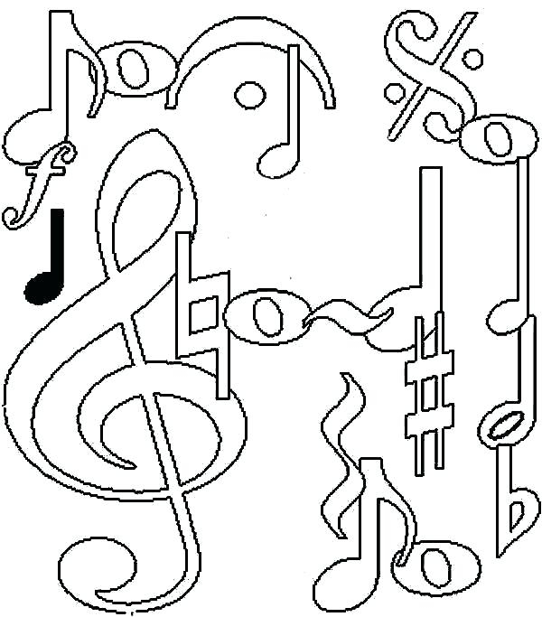 600x683 Music Coloring Pages Kids Printable Music Coloring Pages