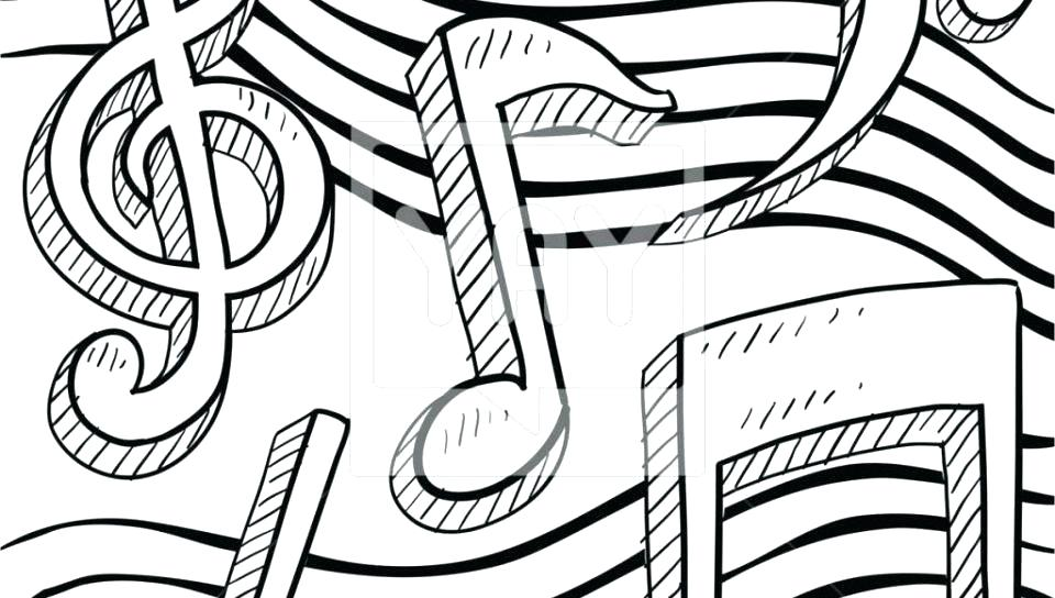 960x544 Music Note Coloring Pages Letter M Is For Music Coloring Page Free