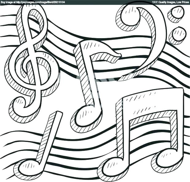 618x591 Music Notes Coloring Pages Music Coloring Pages For Adults Packed