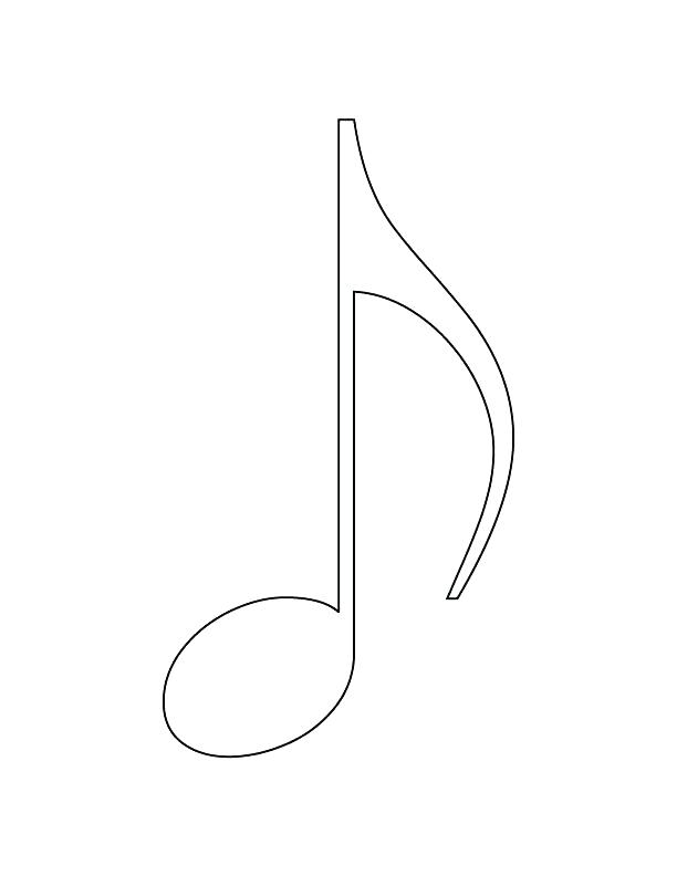 612x792 Coloring Pages Of Music Notes Music Note Coloring Page Coloring