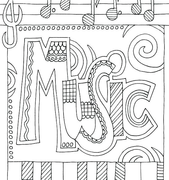 564x600 Coloring Pages Music Music Color Pages Printable Music Mandala Art