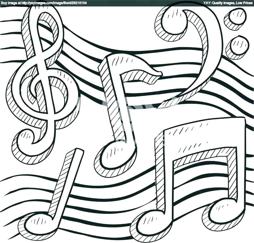 863x826 Coloring Pages Music Notes Free Printable With Ntable Plus Musical
