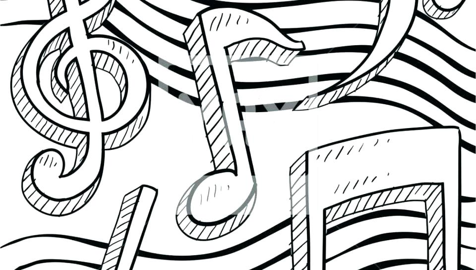 Printable Music Note Coloring Pages For Kids | 544x960