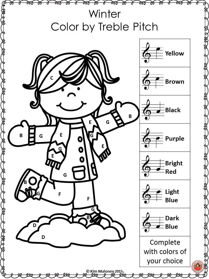 720x960 Music Lessons Winter Music Coloring Sheets For Your Students