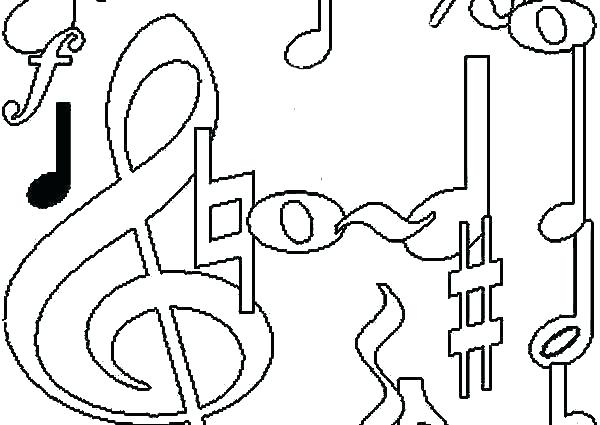 600x425 Coloring Pages Music