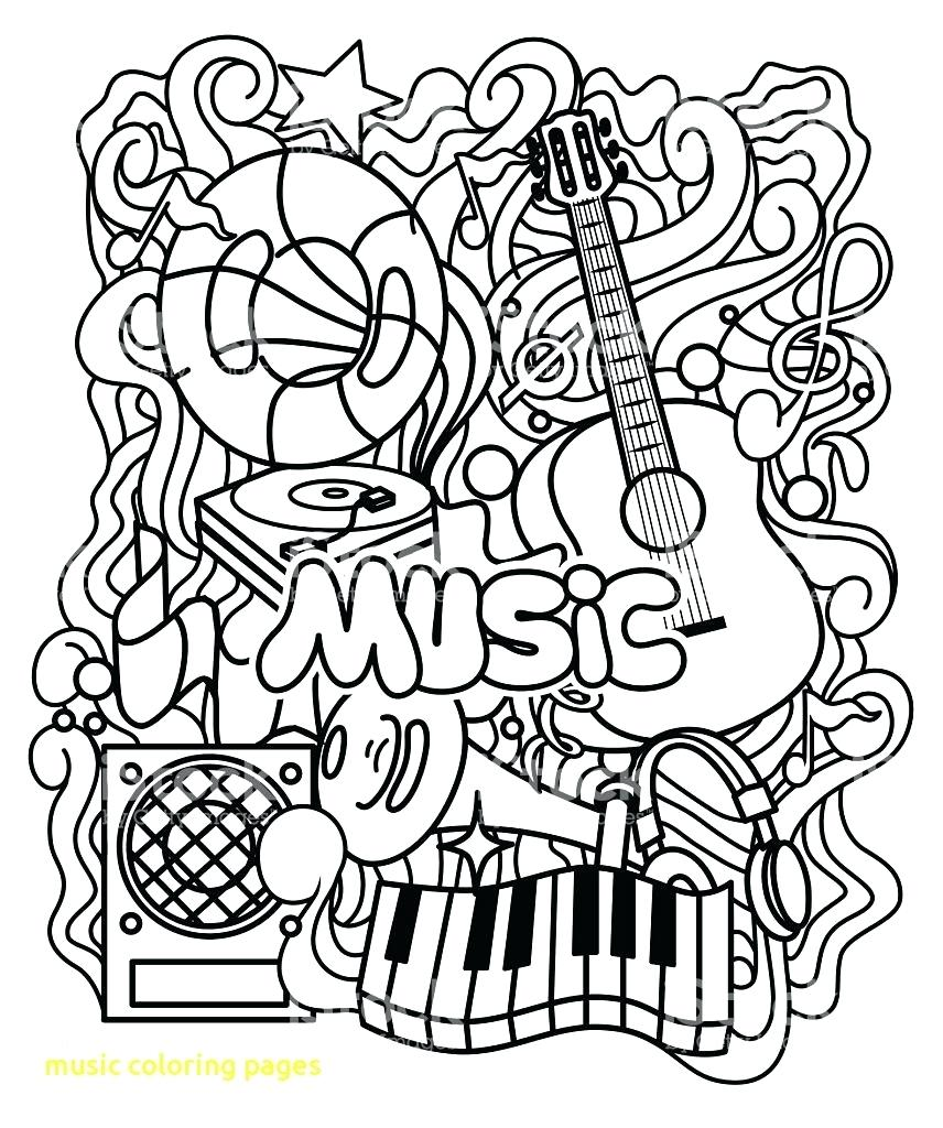 856x1024 Coloring Page Music Musical Instruments Pages With Ornament