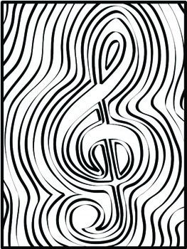 263x350 Music Coloring Pages Music Symbol Coloring Pages Music Symbols
