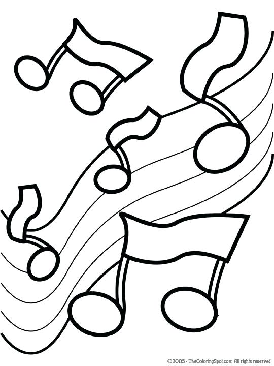 540x720 Music Note Coloring Page Music Music Note Coloring Pages Free