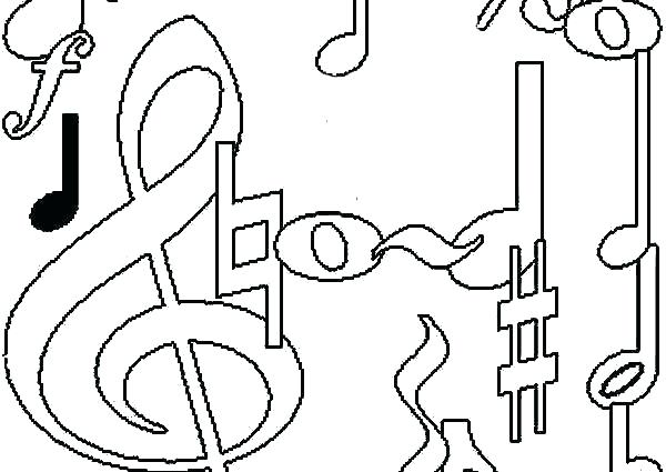 600x425 Music Note Coloring Page Music Notes Coloring Pages For Music Note