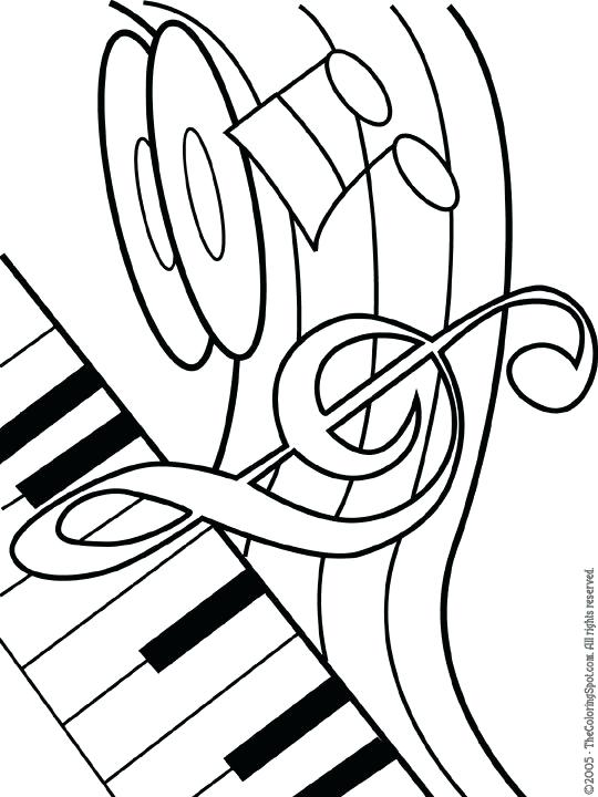 540x720 Music Note Coloring Pages Drawn Music Notes Coloring Page Music