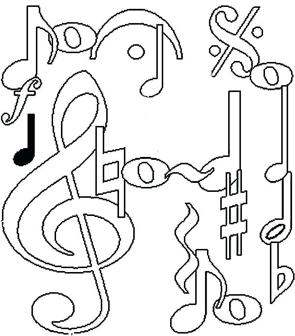 600x683 Music Notes Coloring Page Coloring Music Note Coloring Pages Music