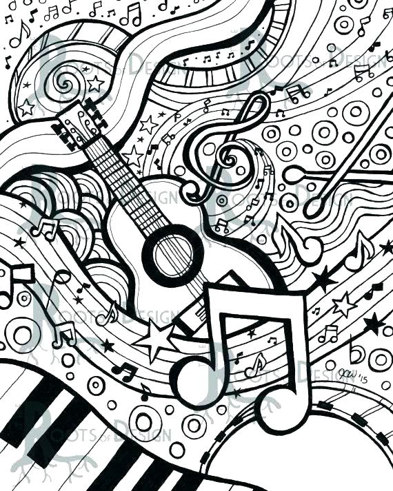 570x713 Music Notes Coloring Pages Music Note Coloring Page Music Notes