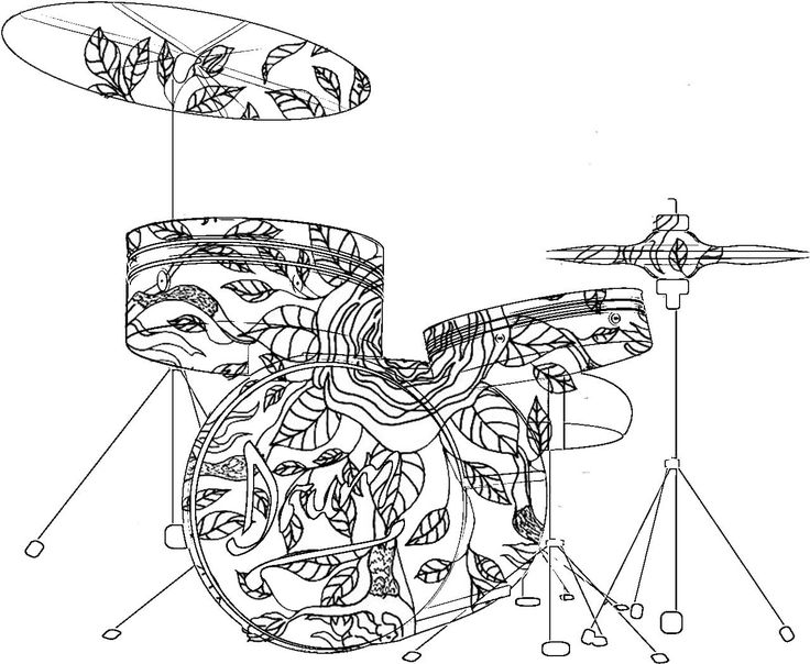Musical Coloring Pages For Adults