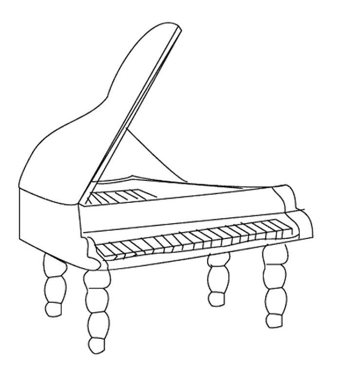 700x800 Kids Under Musical Instruments Coloring Pages
