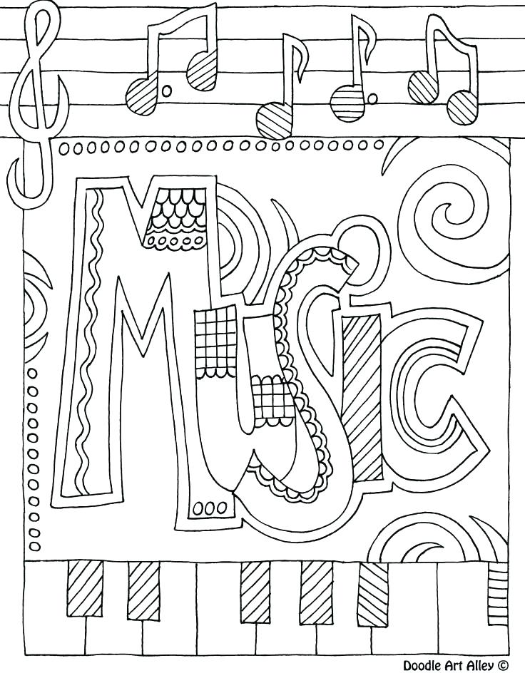 736x951 Music Coloring Pages Musical Instrument Coloring Pages Music