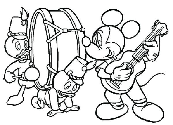 600x434 Coloring Pages Music Mickey Play Page Notes Childrens Musical