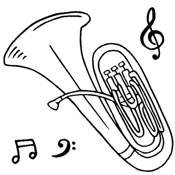 600x600 Musical Instrument Coloring Pages Print Out Instrument Coloring