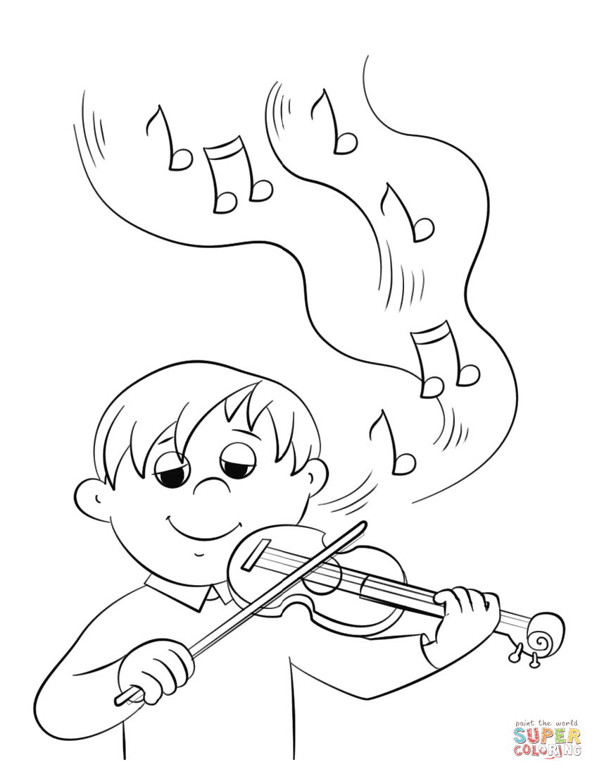 848x1098 Musical Instruments Coloring Pages