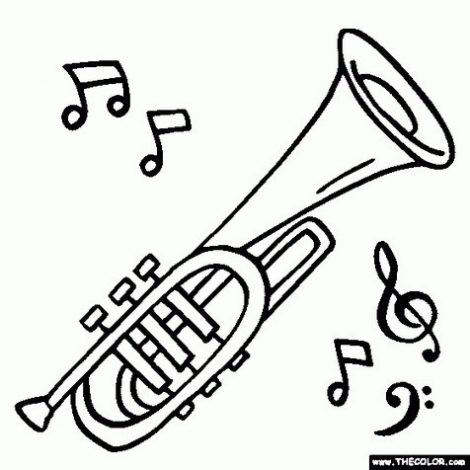 470x470 Musical Instruments Coloring Pages Free