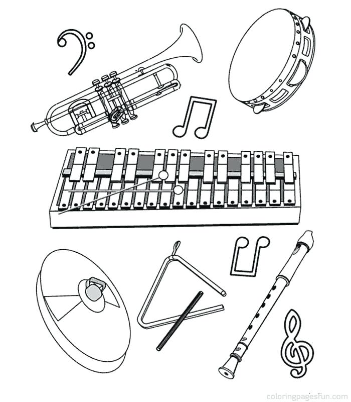 700x800 Coloring Pages Of Musical Instruments On Musical Instruments