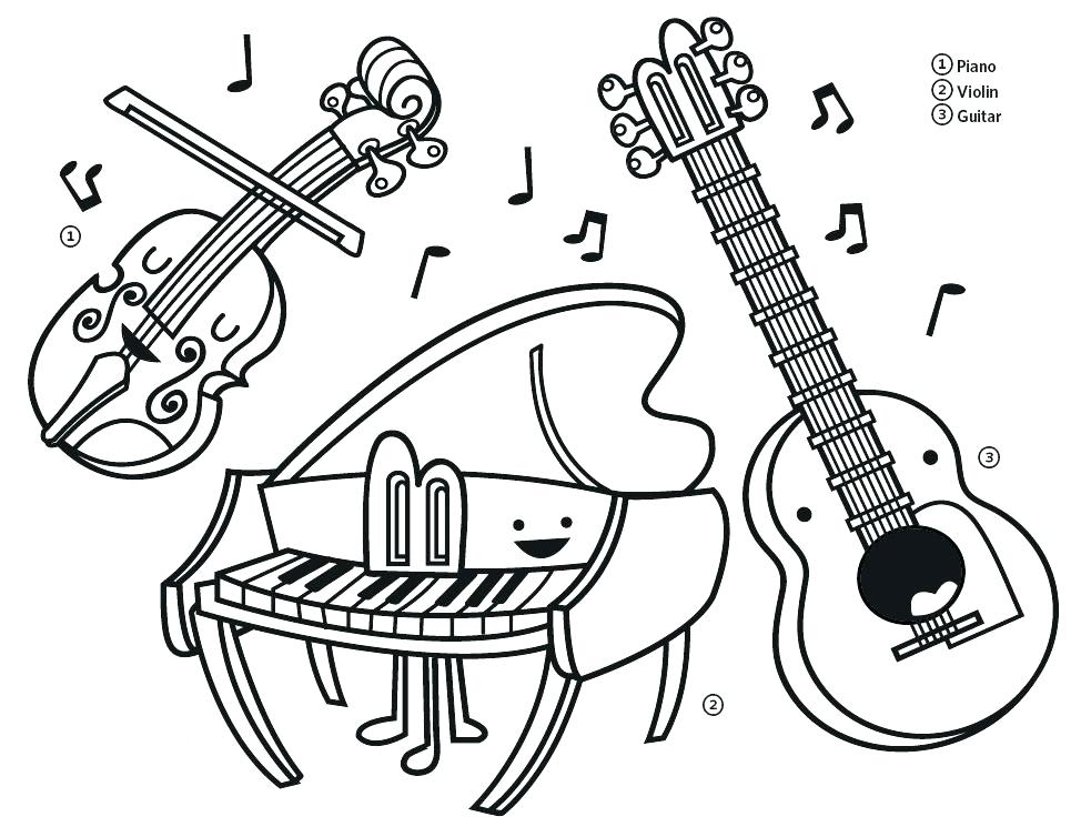 The best free Instrument coloring page images. Download ...