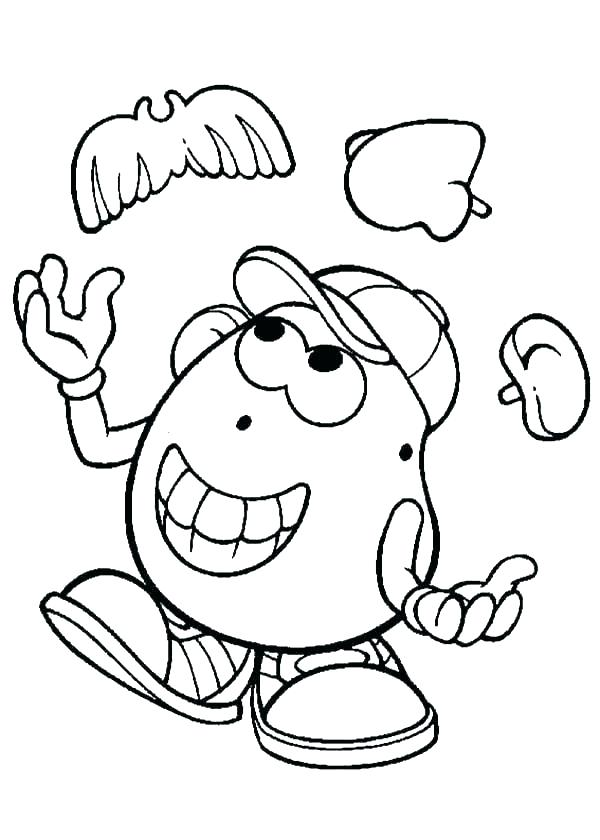 Mustache Coloring Pages