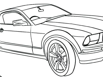 440x330 Mustang Car Coloring Pages Printable Mustang Coloring Pages