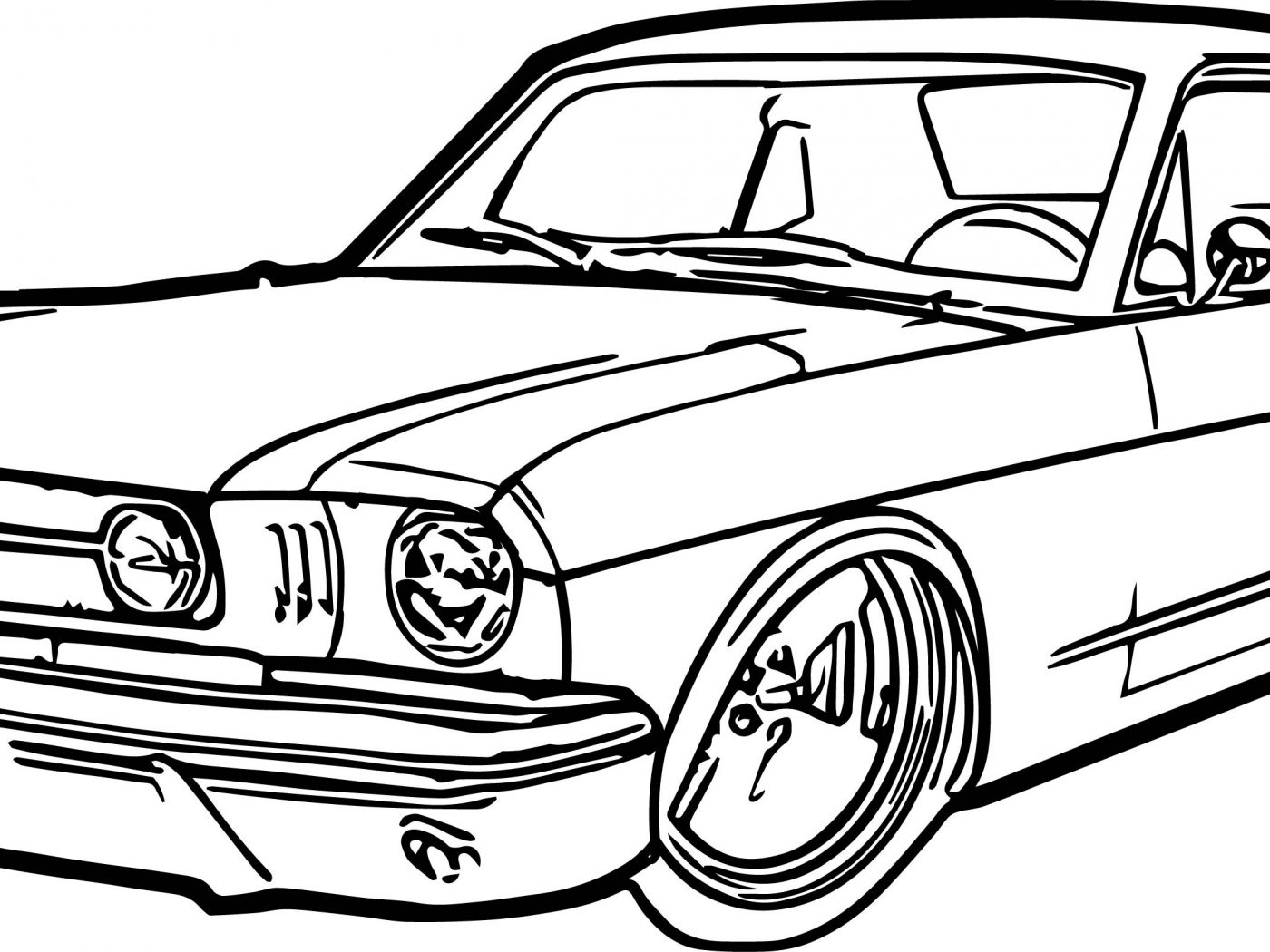 1400x1050 Printable Mustang Car Coloring Page Ford School And Pages General