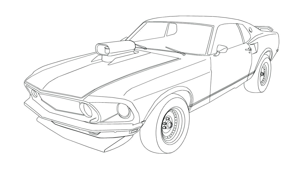 1296x720 Super Car Ford Mustang Coloring Page Unique Supercars Exceptional